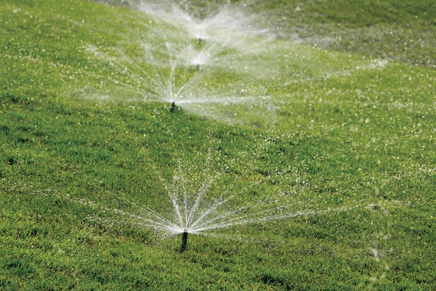 Impianto di irrigazione parco pubblico e giardino privato.
